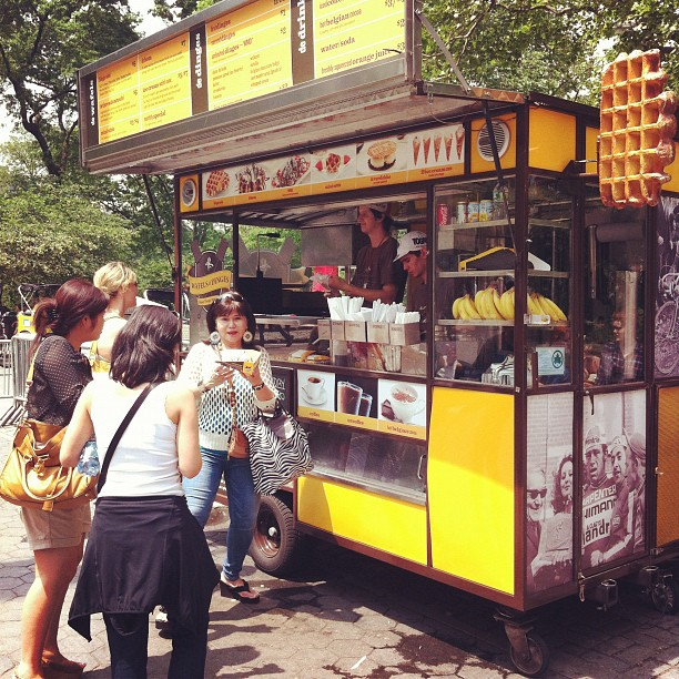 Waffles And Dinges Nyc Waffles And Dinges Cart