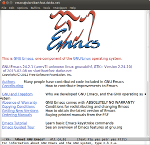 Emacs 24 on the ARM chromebook