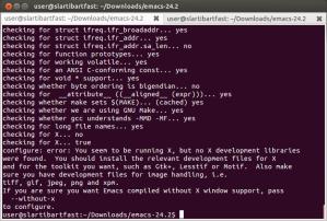 The first configure error I ran into