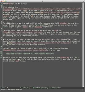 Emacs with Ubunto Mono 14
