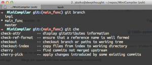 oh-my-zsh with the git plugin