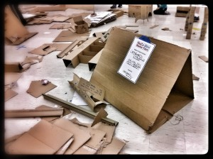There was a lot of fun to be had with cardboard boxes.  Admit it, we all love playing with cardboard boxes.