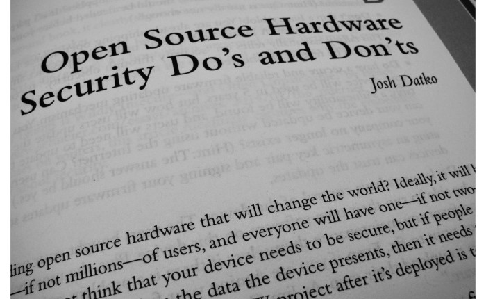 "My small cameo in ""Building Open Source Hardware"""