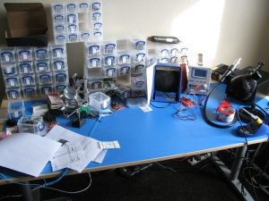 This is my desk. I need to clean it.